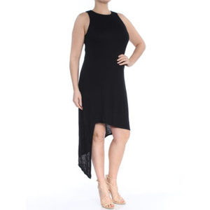 BAR III Women's Heather Black Asymmetrical Dress